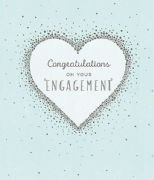 Twinkle Heart Engagement Card